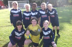 Girls football team participate in tournament