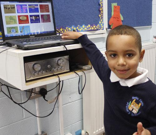 Paris from Year 1 Puffins flicks the switch to make our website go live