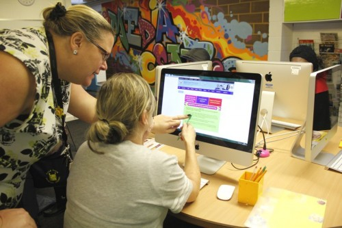 Parents try out the new SEN section on our website