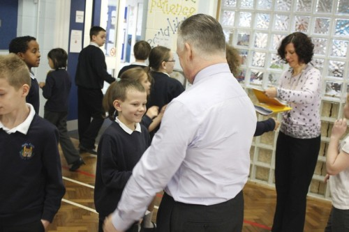 All the children enjoyed their meeting with Steve McCabe