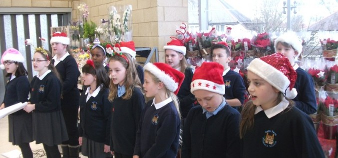 Year 6 bring festive cheer at Sainsbury's