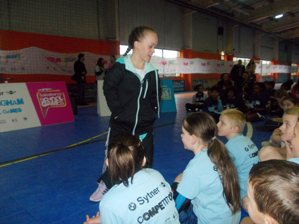 Ellie Simmonds speaking about her success