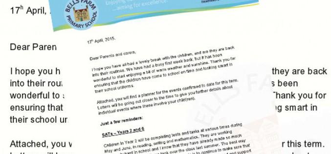 Summer term letter from the Head Teacher