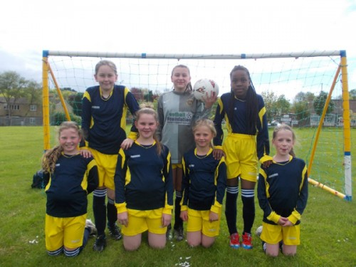 The Year 5 and 6 girls football team