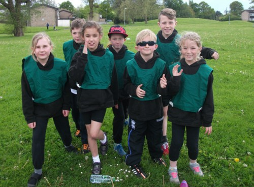 Year 4 children taking part in the Cross Country challenge