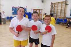 Year 6 boys compete in table tennis tournament