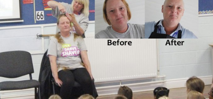 Video: Miss Davis shaves her hair for charity