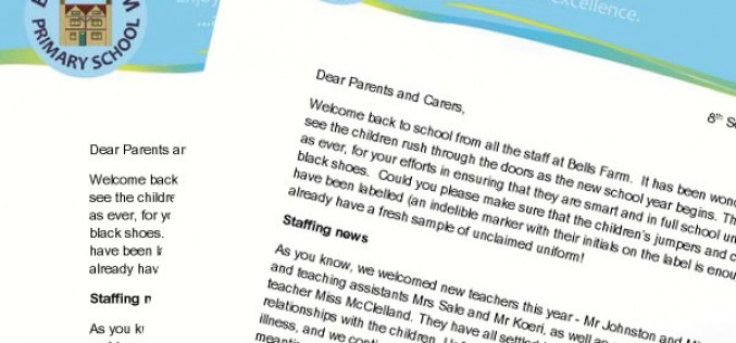 Welcome Back Letter from the Headteacher