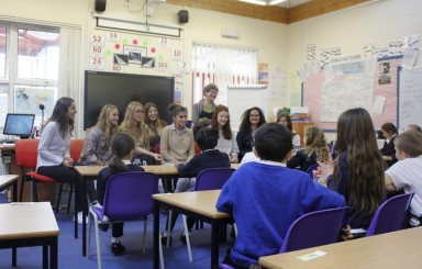 French students visit Year 5 class to discuss French culture