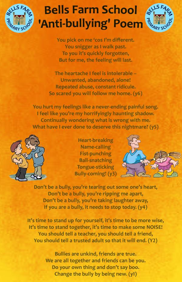 Write Bullying Poems