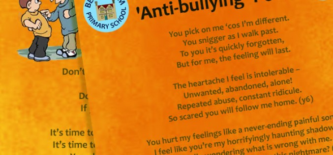 Our anti-bullying school poem