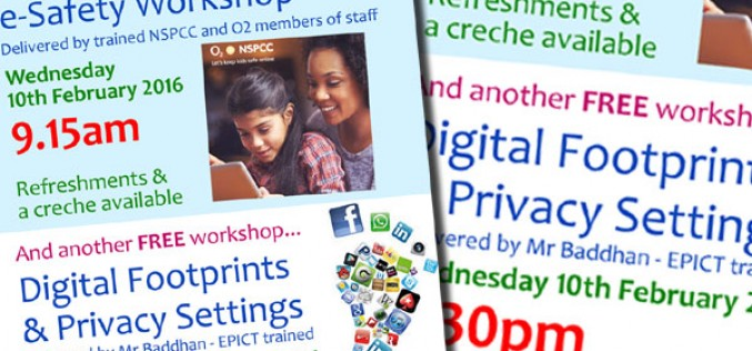 Two FREE e-Safety parent workshops