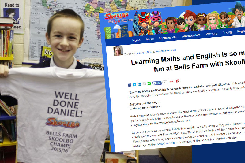 Daniel in Year 6 awarded a champ t-shirt for his high scores