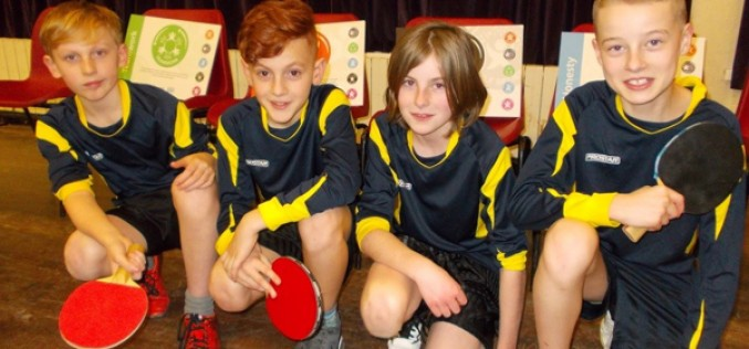 Y6 boys finish third in table tennis tournament