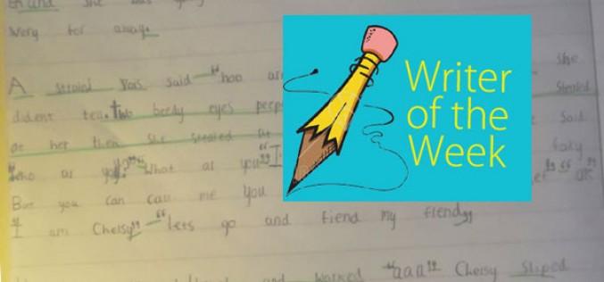 This week's 'Writer of the Week' – Sophie Yr 2