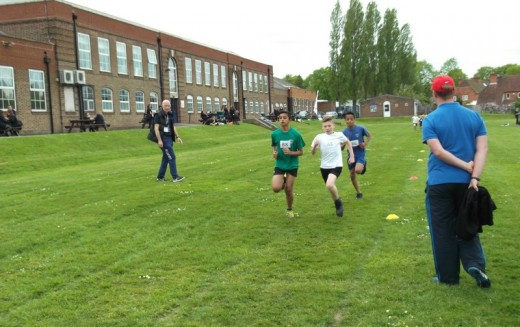 Year 5 take part in Super 4's Athletics