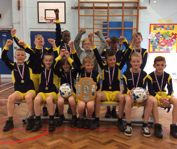 Our 7-a-side football team achieve first place