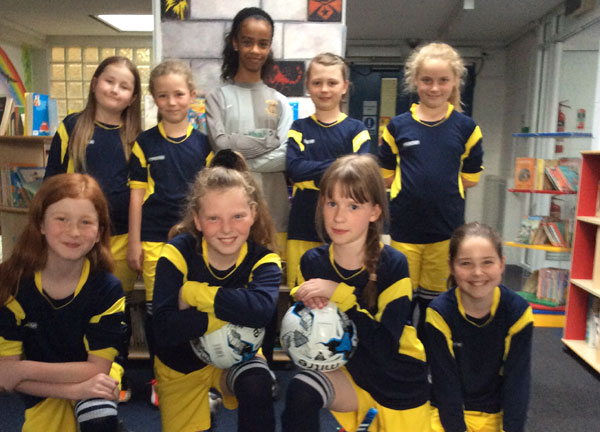 An emphatic win by our girls football side
