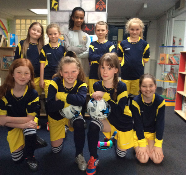 Bells Farm girls 7-a-side football team
