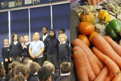 Photos of Year 5 Harvest Festival Assembly