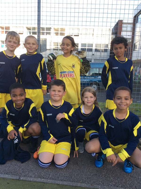Our mixed Year 3 and Year 4 football team