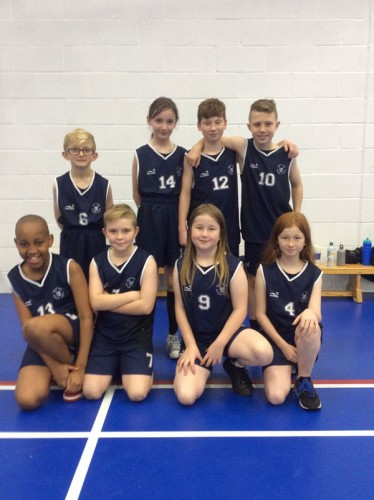 Year 5 and 6 basketball team