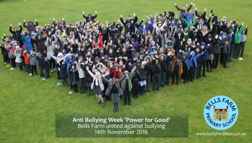 Bells Farm children are taking part in this year's anti-bullying week with the theme 'Power for Good'