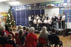 Grandparents enjoy Christmas dinner and school choir