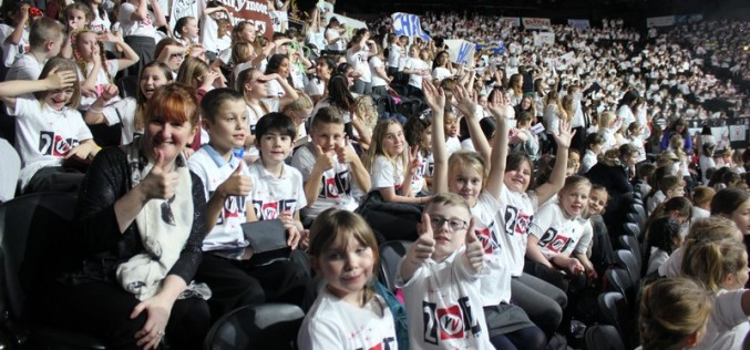 Photos of choir performing at Young Voices