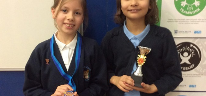 Year 4's Cara and Tiffanie excel in gymnastics