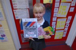 Poppy wins national handwriting competition