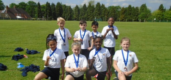 Year 4 finish 3rd in athletics