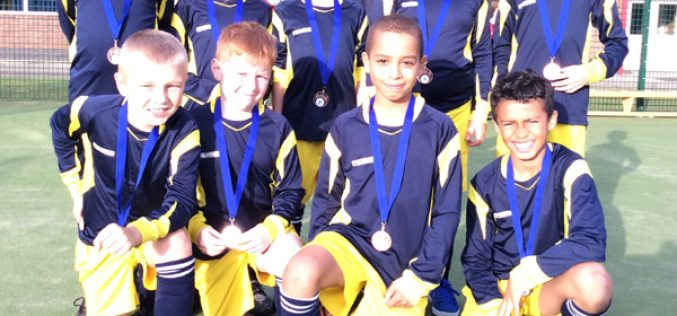 Year 4 finish 3rd in football tournament