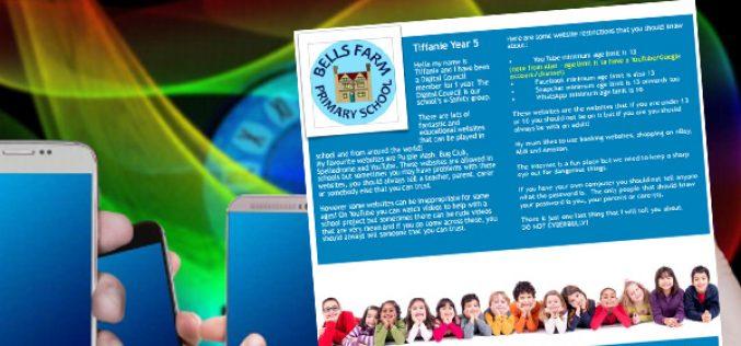 Our children featured in online safety magazine