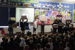 Photos of Year 6 World War assembly