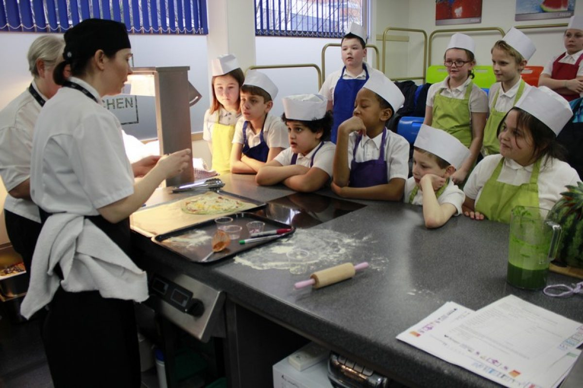 Children take part in 'City Kitchen Live'