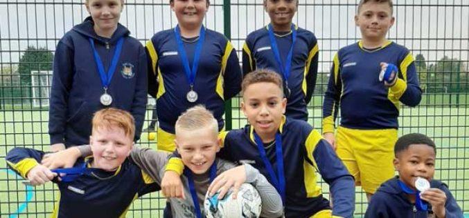 Boys team win silver in 5-a-side football