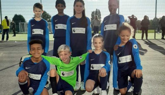 Year 4 take 3rd place in football tournament