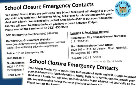 School Closure Emergency Contacts