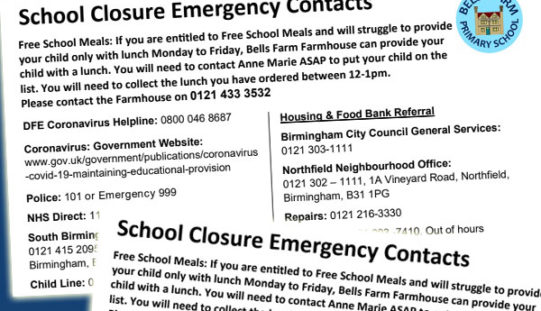 School Closure Emergency Contacts